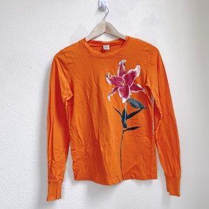 Lucky Brand   Knit Wear Distressed Flower Top